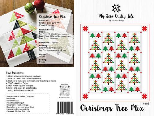 Christmas Tree Mix Quilt PDF Pattern