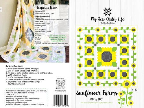 Sunflower Farms Quilt PDF Pattern