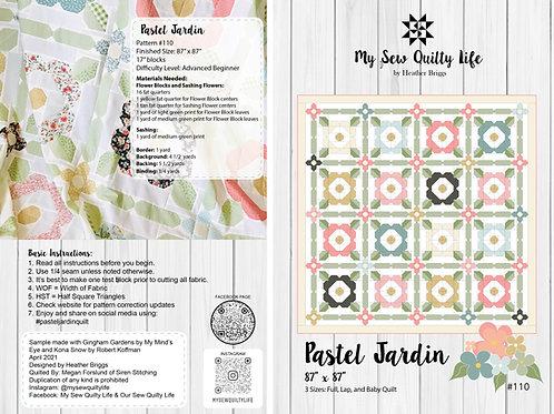 Pastel Jardin Quilt PDF Pattern