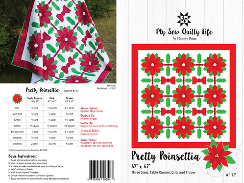 Pretty Poinsettia Paper Pattern