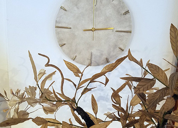 Solid Brass Clock  by Shin Azumi