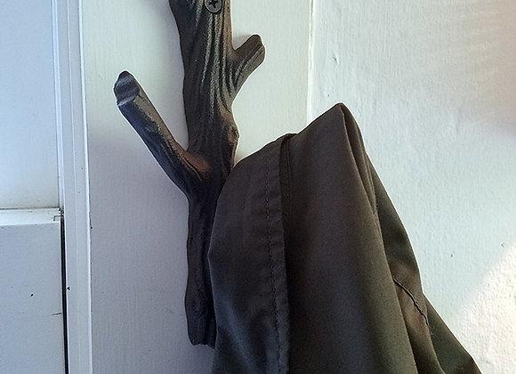 Iron Faux Bois Coat Hook