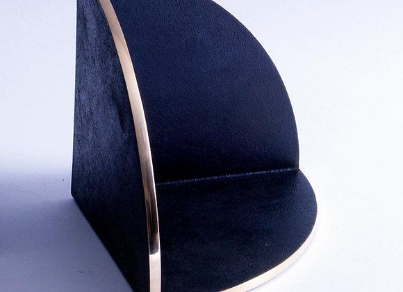 Japanese Blackened Bronze Bookend
