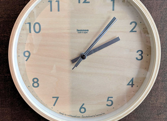 Birch Plywood Clock by Morito Yoshi