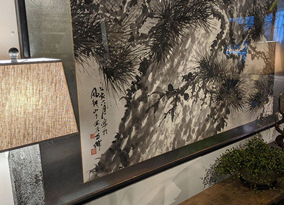 Over-sized Japanese Sumi Ink Painting