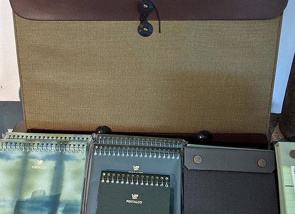 PostalCo Canvas & Leather Folio