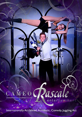 acrobatic, comedy, juggling variety act Cameo Rascale