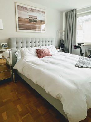 How to create a comfy, American-style bed in your European home.