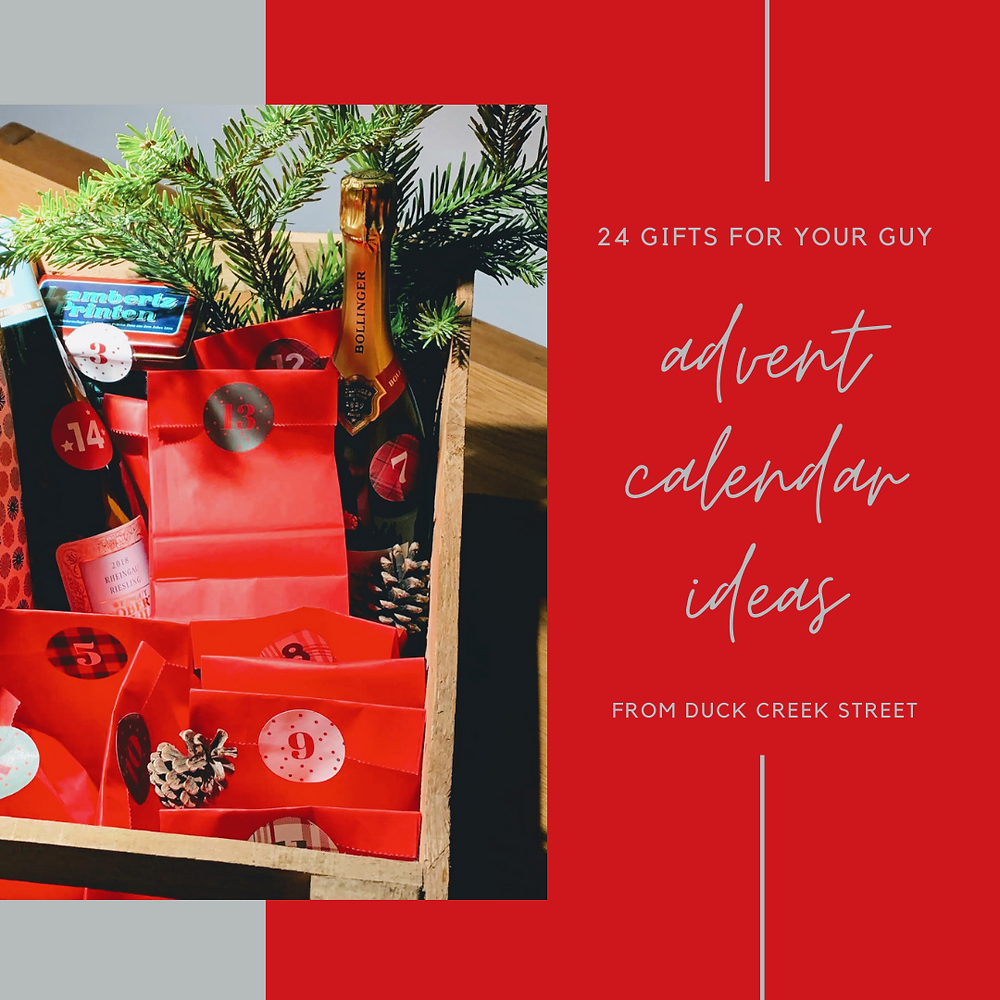24 gifts for your guy advent calendar ideas