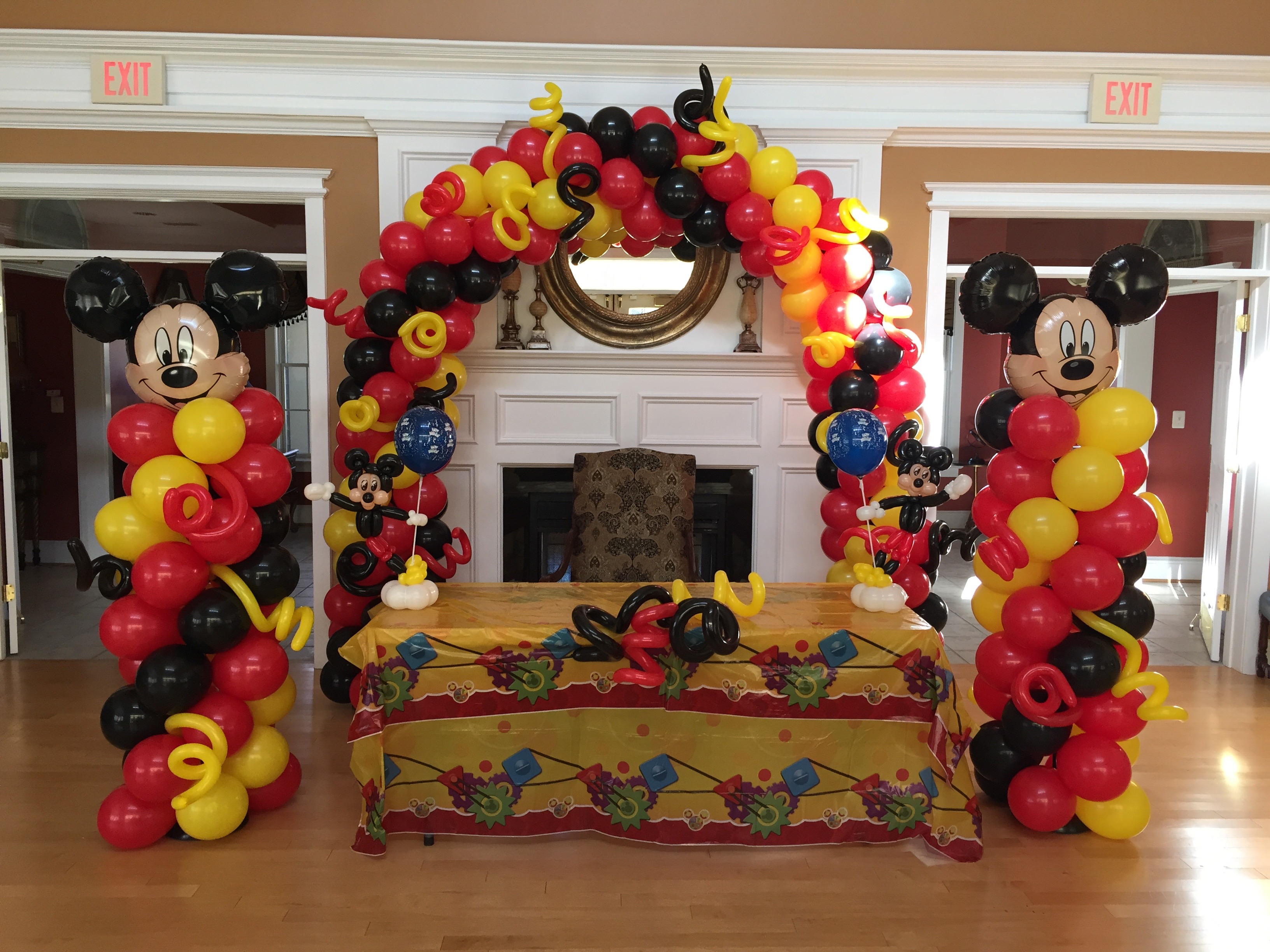 dfa mickey balloon decor arch column