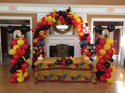 dfa mickey balloon decor arch column
