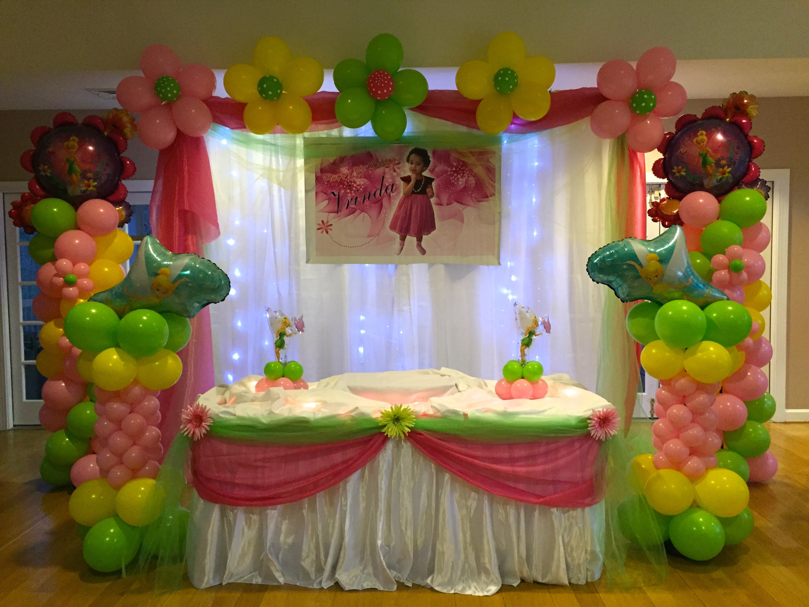 dfa tinkerbell balloon decor backdrop