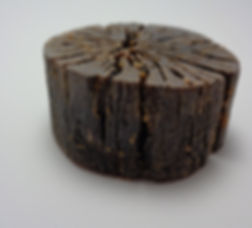 Espresso soap from log mold.
