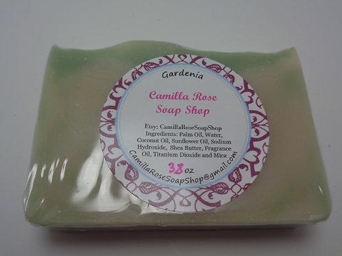 Gardenia Cold Process Soap - Green & White