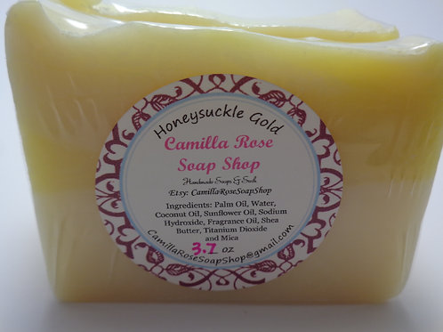 Honeysuckle Gold Cold Process Soap