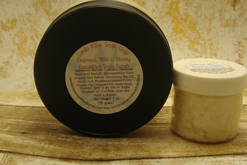 Oatmeal, Milk and Honey Emulsified Sugar Body Scrub 7 oz