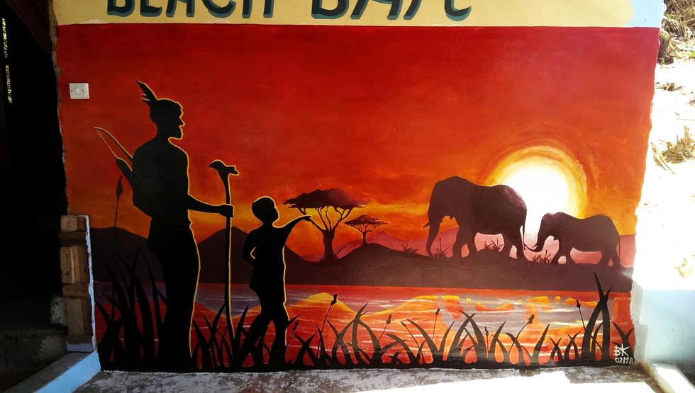 SMILE GAMBIA beach bar, Gambia, AFRICA, 03/2018