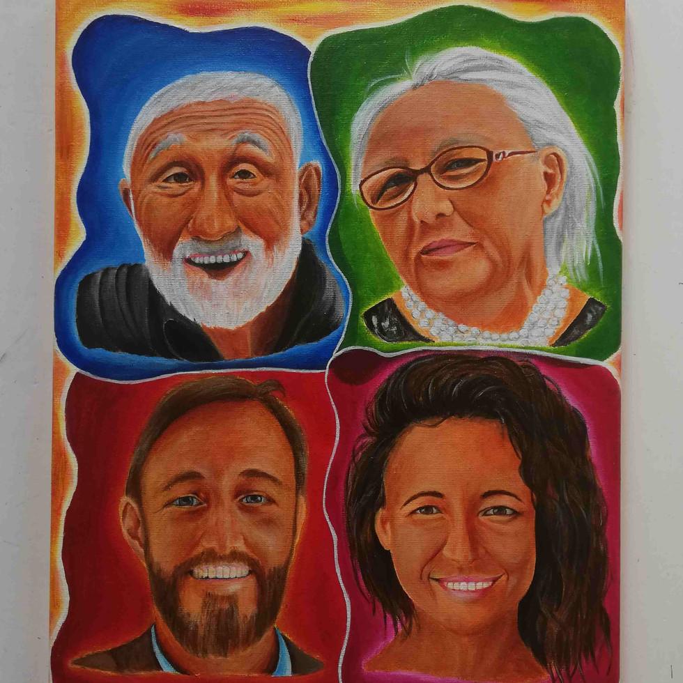 Family portrait (acrylic painting)