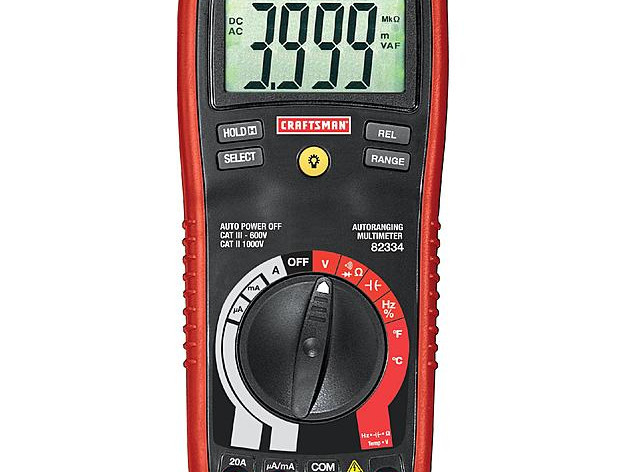 TOOL BOX: Craftsman – Digital Multimeter With Auto Ranging, 11-Function