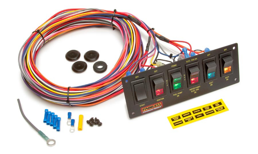 painless performance wiring diagram water pump parts counter brpainless performance switch panel 50406  switch panel 50406