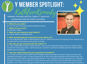 Caltech Y Student Spotlight -  Kathleen Kennedy