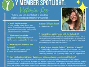 Caltech Y Student Spotlight - Victoria Lee