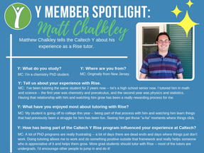 Caltech Y Student Spotlight - Matt Chalkley