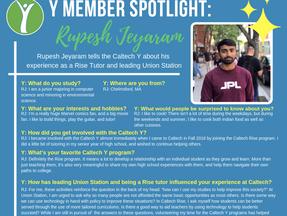 Caltech Y Student Spotlight - Rupesh Jeyaram