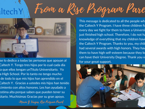 Congratulations to the Rise Scholarship Recipients