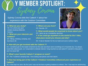 Caltech Y Student Spotlight - Sydney Corona