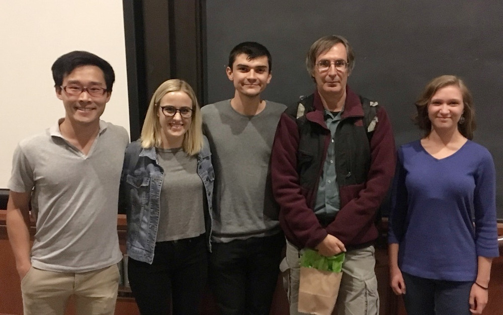 (L-R) SASS committee members Kai Matsuka, Elyse Pennington, Benjamin Riviere, historian Erik Conway and Kathleen Kennedy at the screening of Merchants of Doubt