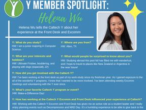 Caltech Y Student Spotlight - Helena Wu