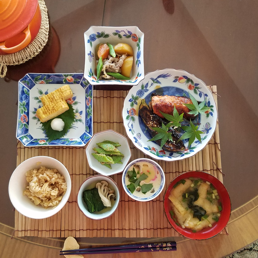 Studenski recipient, Amanda Lin's expertly  prepared and beautifully presented Japanese dishes.