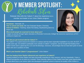 Caltech Y Student Spotlight - Rebekah Silva