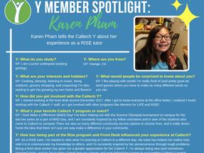 Caltech Y Student Spotlight - Karen Pham