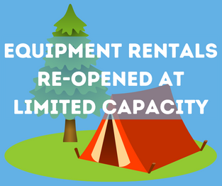 Equipment Rentals Re-Opened at Limited Capacity