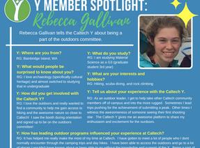 Caltech Y Student Spotlight - Rebecca Gallivan