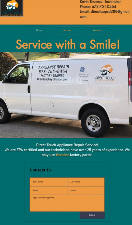 Direct Touch Appliance Repair Service