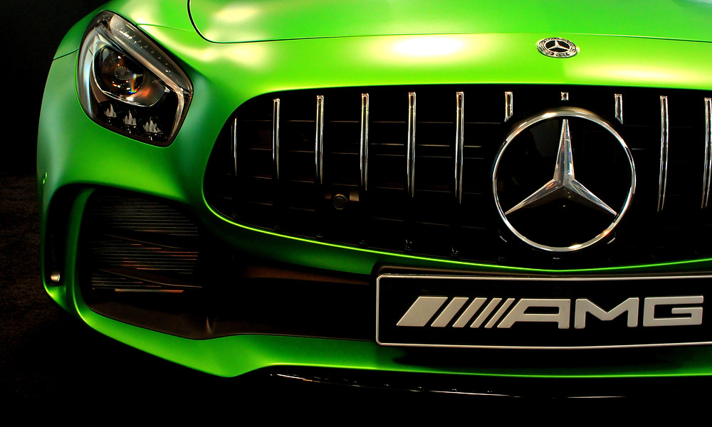 Mercedes-Benz AMG front grill with chrome