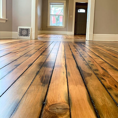 Patina pine with nutmeg stain and oil base finish in south bend indiana