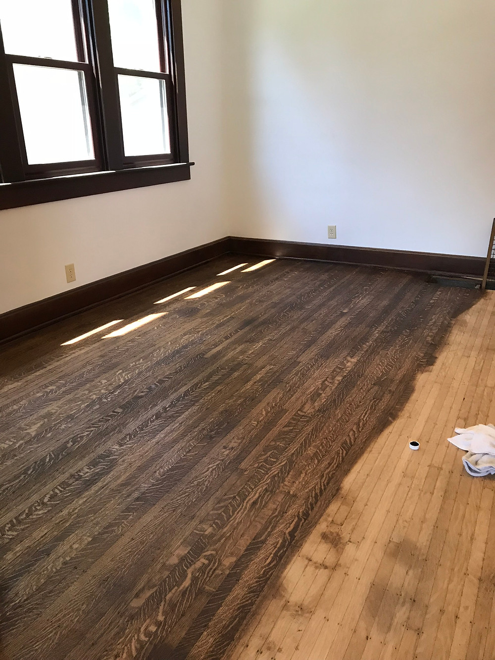 quarter sawn white oak top nail 5/16 flooring. How many times can it be sanded?