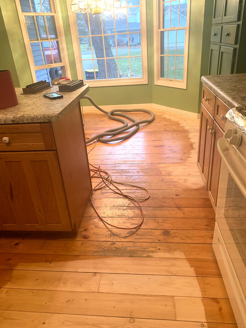 soft floors like pine allow for damage to penetrate much deeper than harder flooring like Oak or Hickory