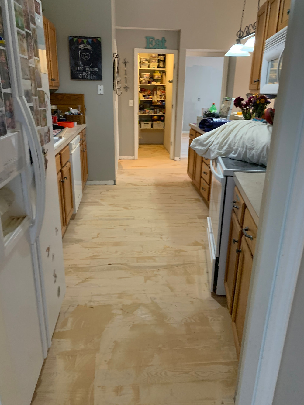 How to fill all the cracks while sanding hardwood