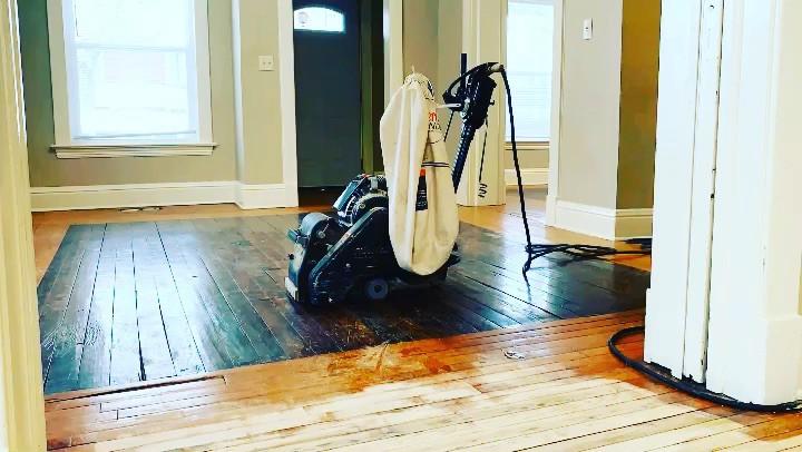 Laminate, hardwood, oak, pine, sander, belt sander, refinishing, lumberjack flooring co, dustless refinishing southwest michigan