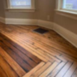 Down Town South bend Indiana Pine and Oak Oil Base Hardwood Floor Refinish