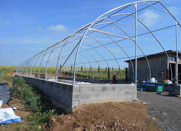 Ocelová konstrukce obloukové haly - šířka 10 *délka 12 m