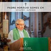 FALECIMENTO DO PE. HORÁCIO GOMES, CM