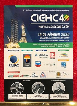 Affiche de la 4ème conférence internationale et exposition sur les hydrocarbures au congo.