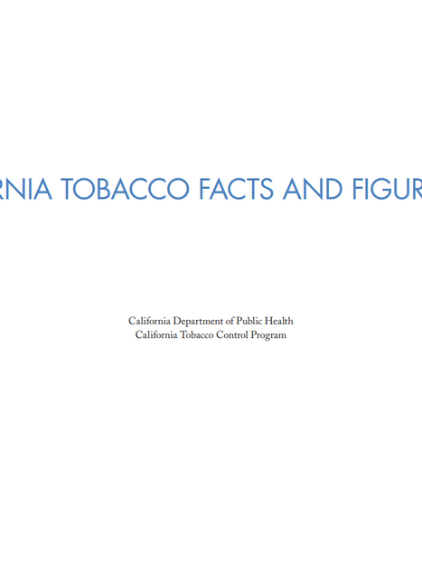 California Tobacco Facts and Figures 2019, CA Dept of Public Health