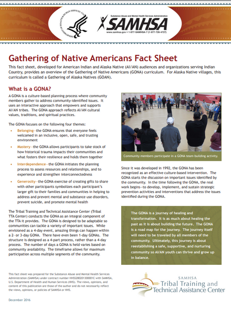 SAMHSA Gathering of Native Americans Fact Sheet